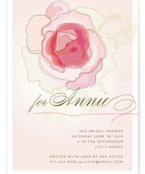Rose Blush Bridal Shower Invitations