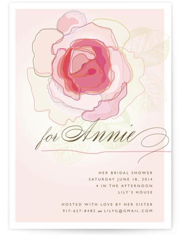 Rose Blush Bridal Shower Invitations