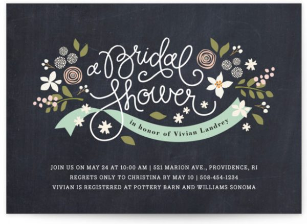 Rustic Ribbons And Flora Bridal Shower Invitations