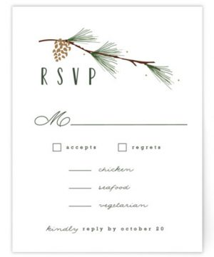 Rustic Wedding RSVP Cards