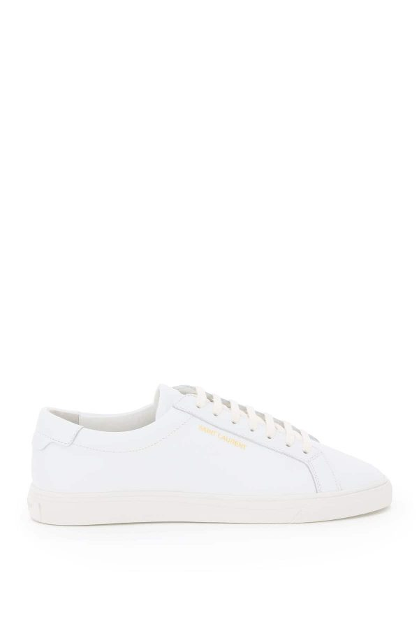 SAINT LAURENT ANDY SNEAKERS 35 White Leather