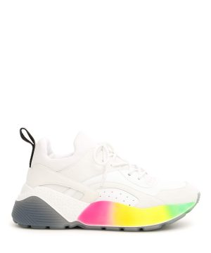 STELLA McCARTNEY ECLYPSE SNEAKERS 36 White, Yellow, Green Faux leather, Technical