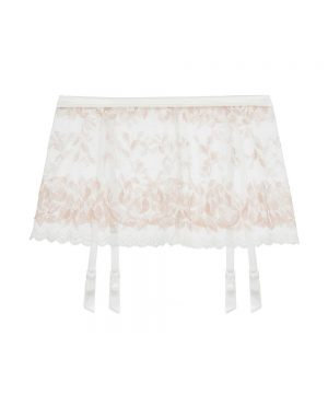 Seymour Garter Belt | Medium/large White Lace Garter