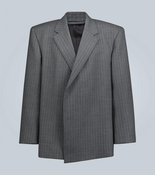Shifted wool blazer