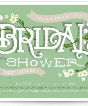 Shower Blossoms Bridal Shower Invitations