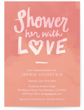 Shower With Love Bridal Shower Invitations