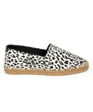 Signature Animal-Print Canvas Espadrilles