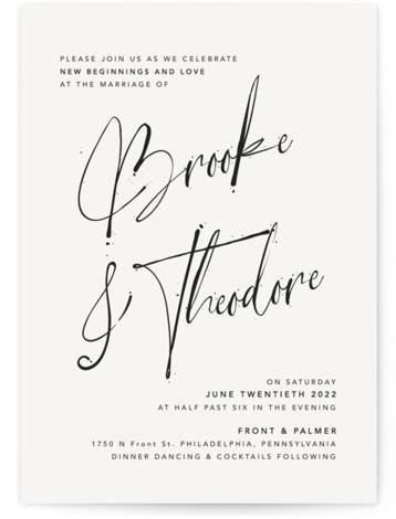 Signature Style Wedding Invitations