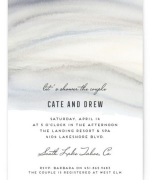 Soft Marble Bridal Shower Invitations