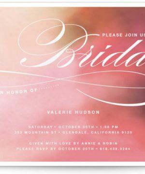 Soft Watercolor Bridal Shower Invitations