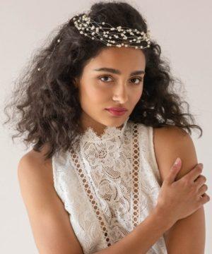 Soho Style Imitation Pearl Halo Bridal Headpiece
