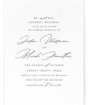 Something Letterpress Wedding Invitations