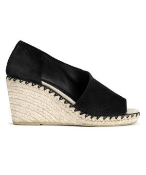 Sonora Peep-Toe Suede Espadrille Wedge Sandals