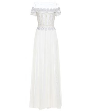 Sophia embellished silk bridal gown