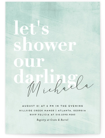 Sorbet Bridal Shower Invitations