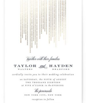 Sparkle Foil-Pressed Wedding Invitations