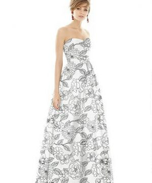 Special Order Alfred Sung Bridesmaid Dress D755FP