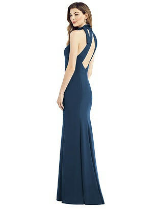 Special Order Bow-Neck Open-Back Trumpet Gown
