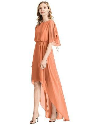 Special Order Flutter Sleeve High-Low Cocktail Dress