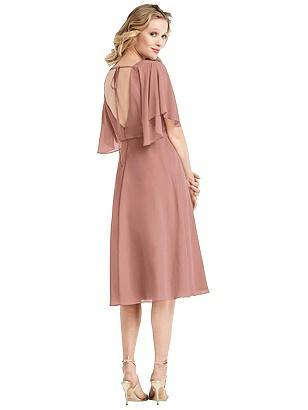 Special Order Flutter Sleeve Open-Back Cocktail Dress