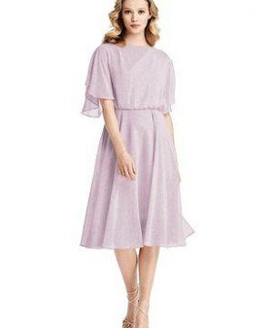 Special Order Flutter Sleeve Open-Back Shimmer Cocktail Dress