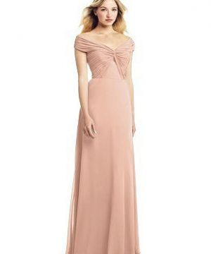 Special Order Off-the-Shoulder Pleated Bodice Chiffon Gown