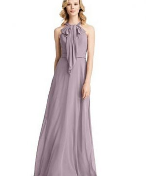 Special Order Ruffle Halter Chiffon Maxi Dress