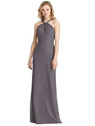 Special Order Shimmer Twist Halter Trumpet Gown