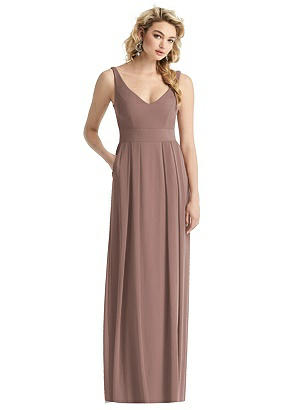 Special Order Sleeveless Pleated Skirt Maxi Dress with Pockets