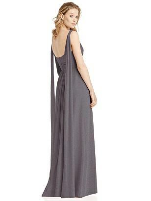 Special Order V-Neck Shimmer Gown with Streamer at Back Strap