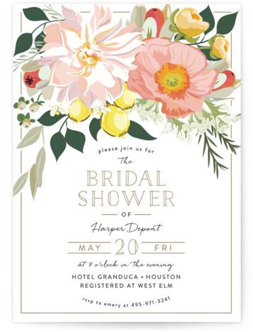 Spring Blooms Bridal Shower Invitations