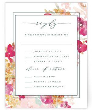 Spring Garden RSVP Cards