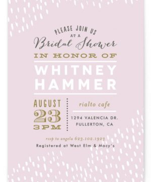 Sprinkled Bridal Shower Invitations