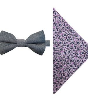 Stafford Bow Tie Set, One Size , Blue
