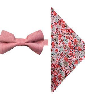 Stafford Bow Tie Set, One Size , Orange