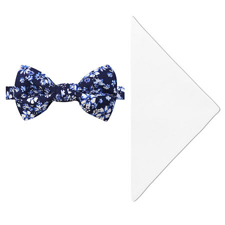 Stafford Floral Bow Tie Set, One Size , Blue