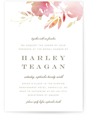 Stately Florals Bridal Shower Invitations
