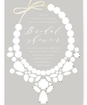 Statement Foil-Pressed Bridal Shower Invitations