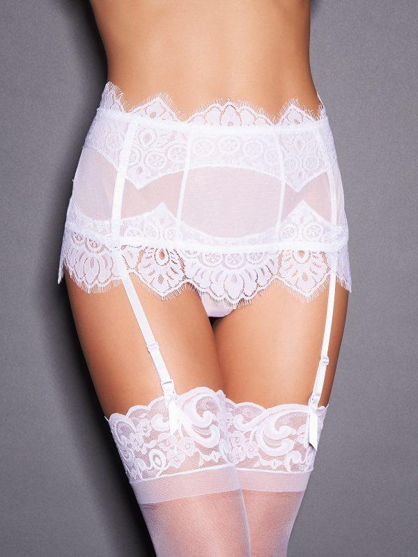 Stephanie Eyelash Lace Garter Thong