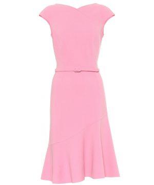 Stretch-wool crêpe dress