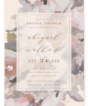 Subtle Blooms Bridal Shower Invitations