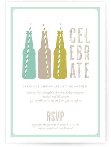Suds Bridal Shower Invitations