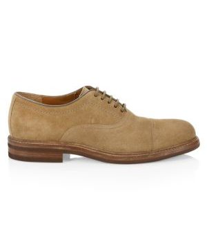 Suede Lace-Up Dress Shoes