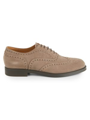 Suede Oxford Dress Shoes