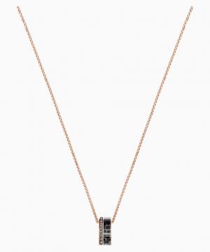 Swarovski Alto Pendant, Gray, Rose-gold tone plated