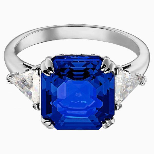 Swarovski Attract Cocktail Ring, Blue, Rhodium plated