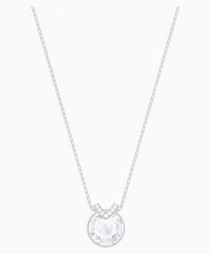 Swarovski Bella V Pendant, White, Rhodium plated