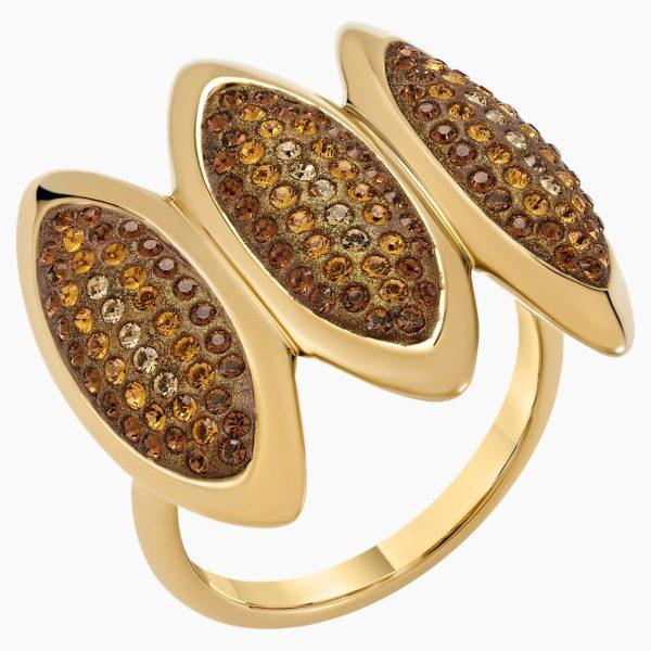 Swarovski Evil Eye Cocktail Ring, Brown, Gold-tone plated