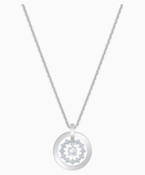 Swarovski Further Necklace, White, Rhodium plated