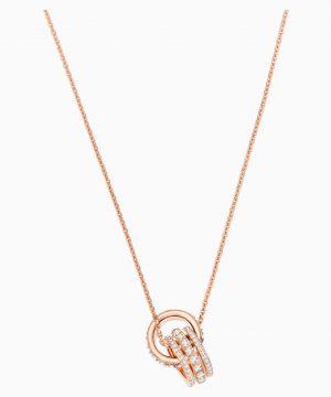 Swarovski Further Pendant, White, Rose-gold tone plated